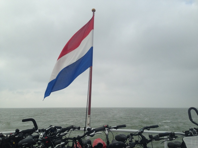 The ferry across the IJsselmeer takes visitors and their bikes to Fryslân. Photo by Angela van der Kloof.