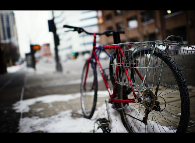 Winter biking in Minneapolis by Dustin Gaffke