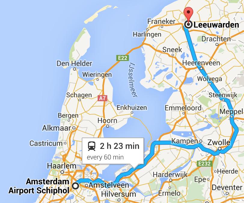 Reaching Leeuwarden by train Winter Cycling Blog