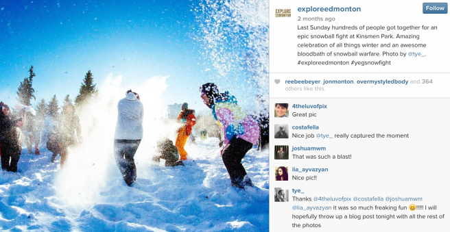Edmonton is using social media to change the story about winter. Check out #ExploreEdmonton on Instagram.