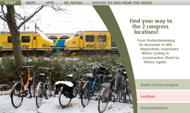 Use Naviki to navigate Leeuwarden during the Winter Cycling Congress.