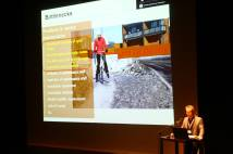 Kalle Vaismaa from Tampere University of Technology in Finland spoke about land use planning and winter maintenance. Photo by Guilherme Costa.