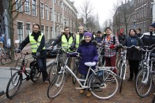 Delegates all set to take off on a cycling tour of Leeuwarden.