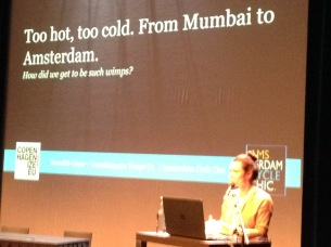 Whether the climate is hot or cold, people will say it is too much as Meredith Glaser points out.