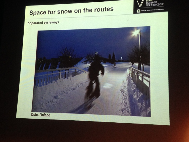 Kalle Vaismaa discussed the key elements necessary to good winter maintenance. Photo by Annie Van Cleve.