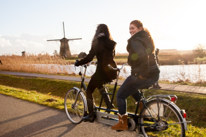 Here's a peek at the Dutch winter cycling tradition, delegates will experience at #WCC15. Photo by Shirley Agudo.